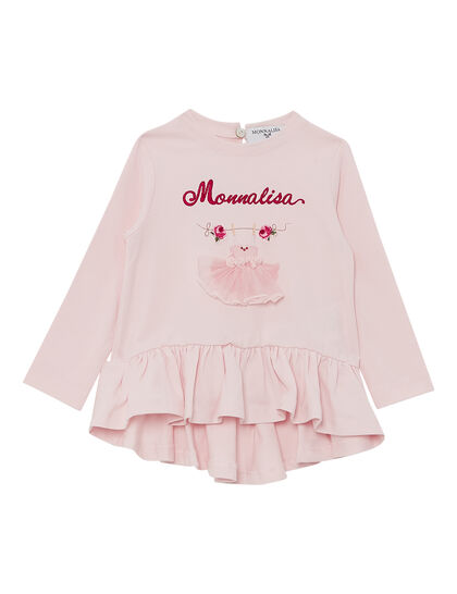 Long Sleeve Ts Logo Ballerina Dress