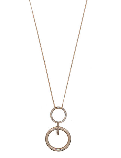 Long Double-Circle Pendant