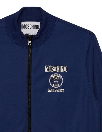 Track Jacket Moschino Logo Relief