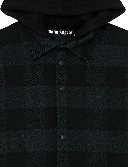 Hoody Logo Overshirt Forest Green Whit