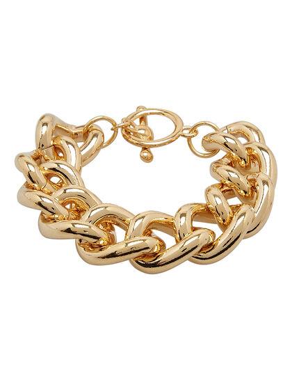 Kjy 8 Gold Chain W/Toggle Clasp Bracelet