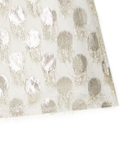 Bow Detail Metallic Dress