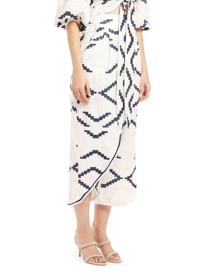 Printed Embroidered Culottes