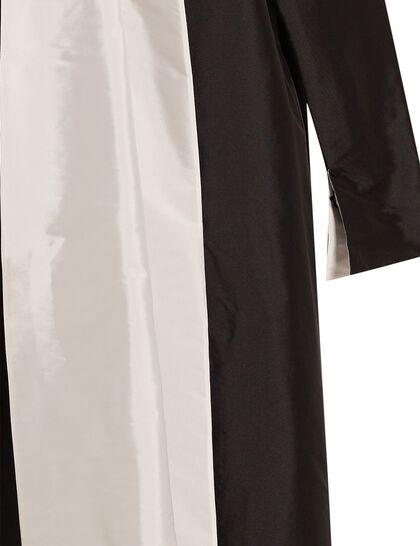 White Collar Taffeta Abaya