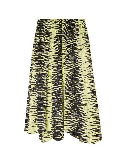 Tiger Printed Flared Skirt