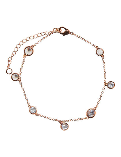 Rose Gold Stone Anklet
