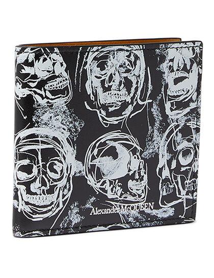 Wallet Painted Skull