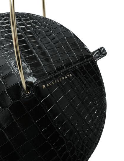 Croc-Embossed Fermata Bag