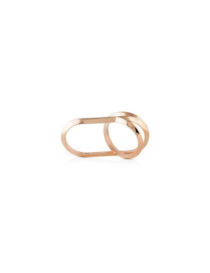 Gfa Marsa Gafla Marsa Gafla Inbetween Ring. Rose Gold