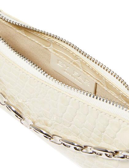 Mini Rachel Croc-Embossed Leather