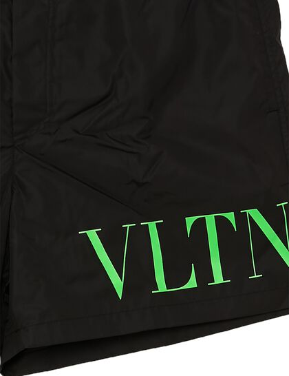 VLTN TAG Nylon Swim Shorts