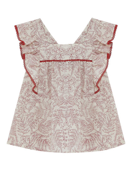 Top Short Sleeve Liberty Red
