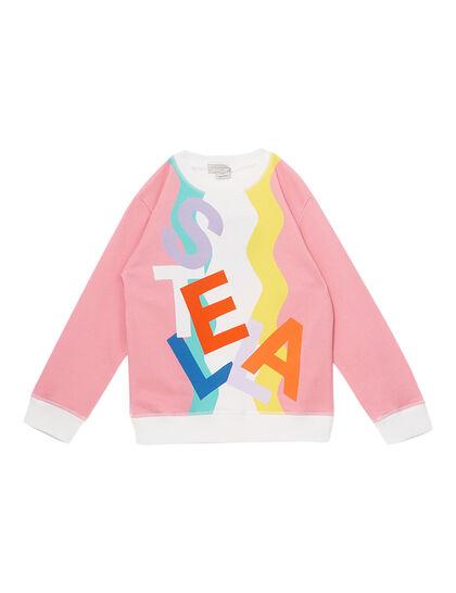 Swiggle Oversize Cotton Fleece Sweatshirt