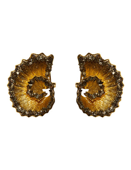 Fool'S Gold Dragon Stud Earrings