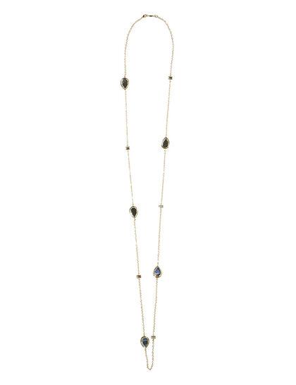 Dew Drop Mirror Long Necklace