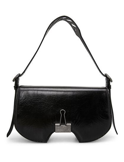 Swiss Flap Shoulder Bag - Black