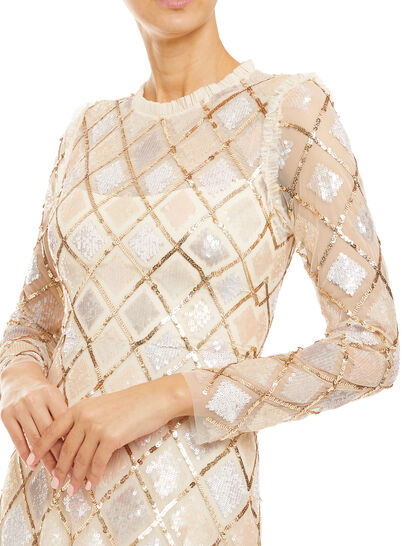 Sequin Diamond Gown