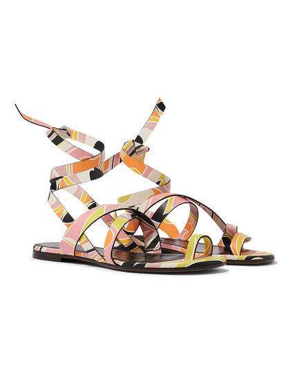 Sandals - Printed Calf Leather