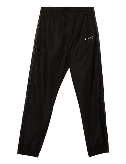 Logo Stripe Trackpant Black White