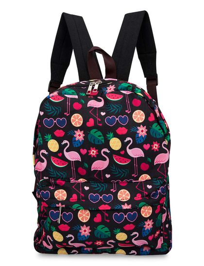 Flamgino And Fruit Backpack