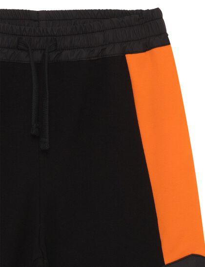 Track Pants Black Orange