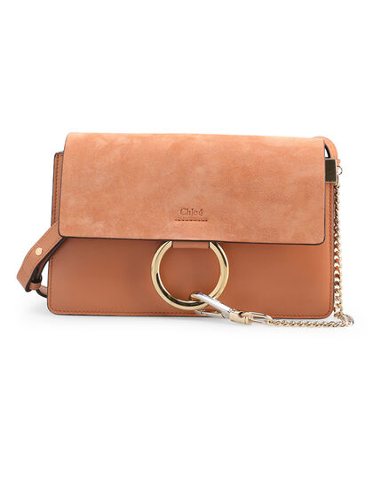 Fayesmall Shoulder Bag Shiny Calfskin (& Suede