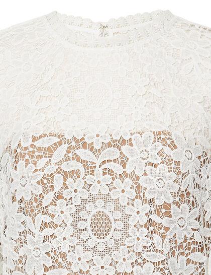 Guipure Lace & Taffeta Maxi Dress