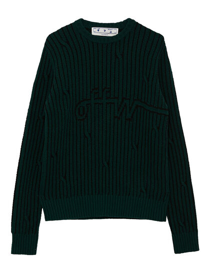 Cable Kint Wool Pullover