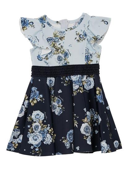 Dress Neoprene Short Sleeve Roses