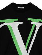 Full-Sleeves Logo Sweatshirt - Multi- Color