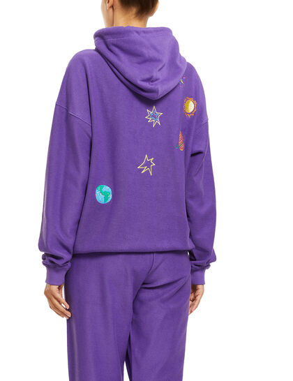 Planet Embroidered Hoodie