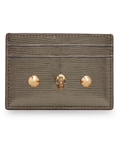 Skull & Stud Leather Card Holder