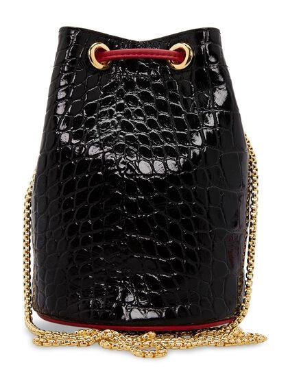 Lavender Crocodile-Effect Calf Leather Bag