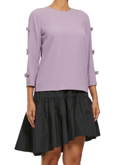 Crepe Bow Top