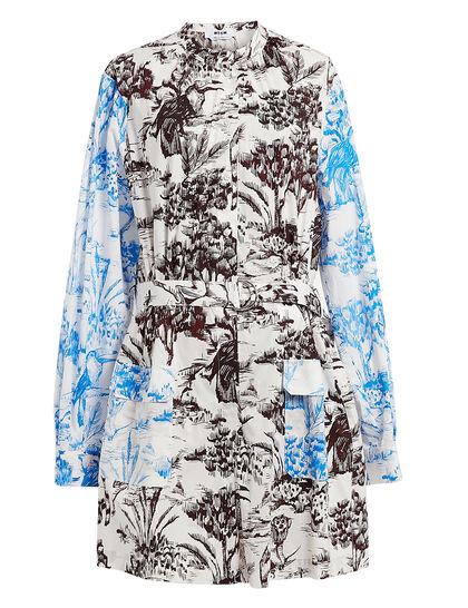 Graphic Patch Pocket Dress- Multi-Color