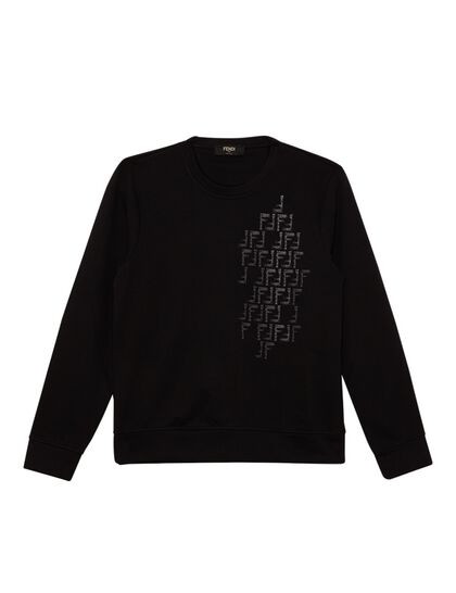 Faded Ff Motif Sweatshirt