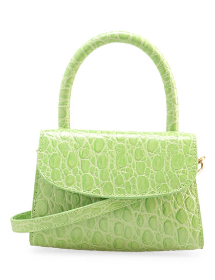 Mini Circular Croco-Leather Tote