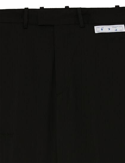 Straight-leg Tailored Pants - Black