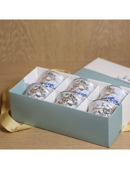 Gift Box Of 6 Kunooz Arabic Coffee Cups