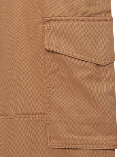 Cotton Worker Fit Trousers
