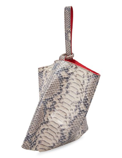 Rose Pouch Chic Python Leather Bag