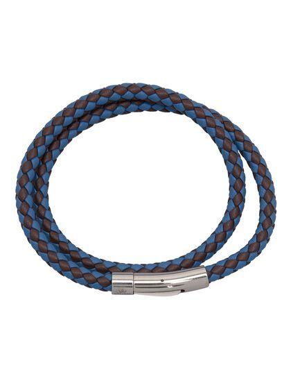 Matteo Double Tour Bracelet - Blue / Brown