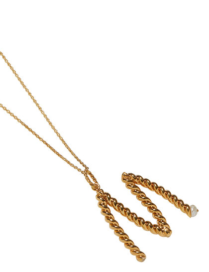 M-Letter Gold Necklace