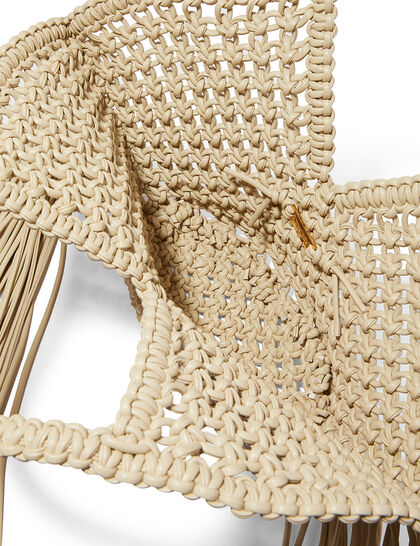 Small Woven Basket Vegan Leather