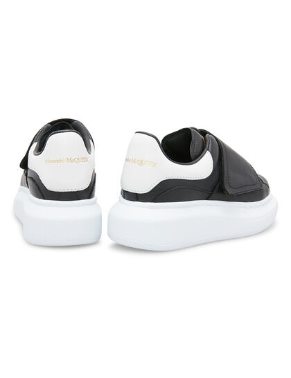 Velcro Strap Leather Sneakers
