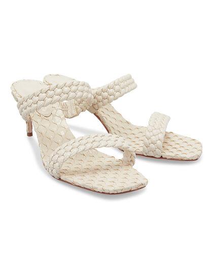Mule Braided White Sandal
