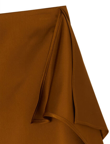 Drape Midi Skirt