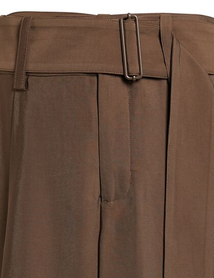 High Waist Belted Tapered Pant