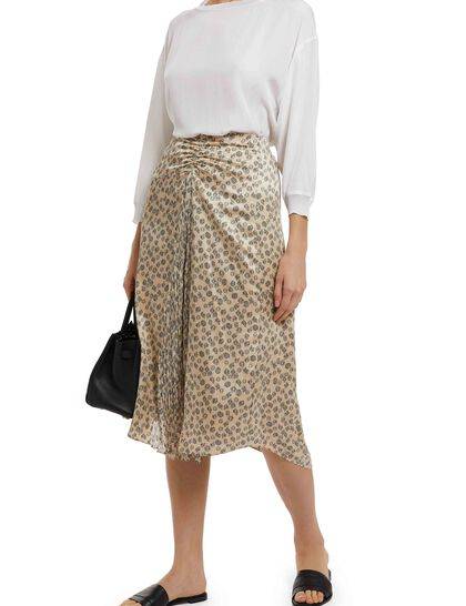 Zinnia Floral Ruched Skirt