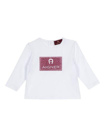 Long Sleeved Shirt-Toddler Girls-White
